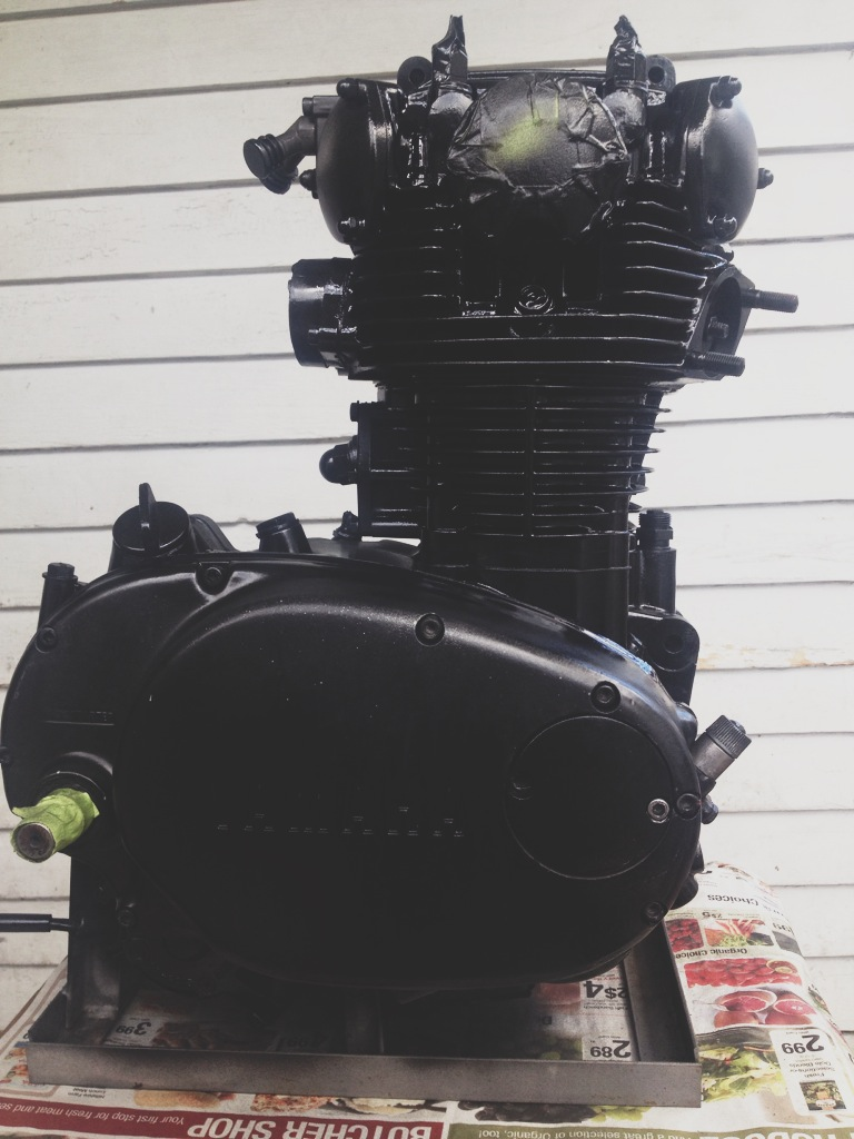 Engine all sealed up and painted