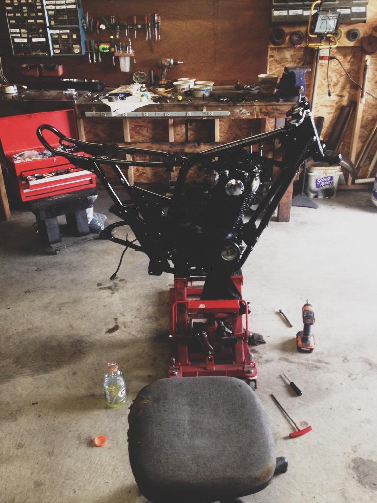 Engine back in the frame
